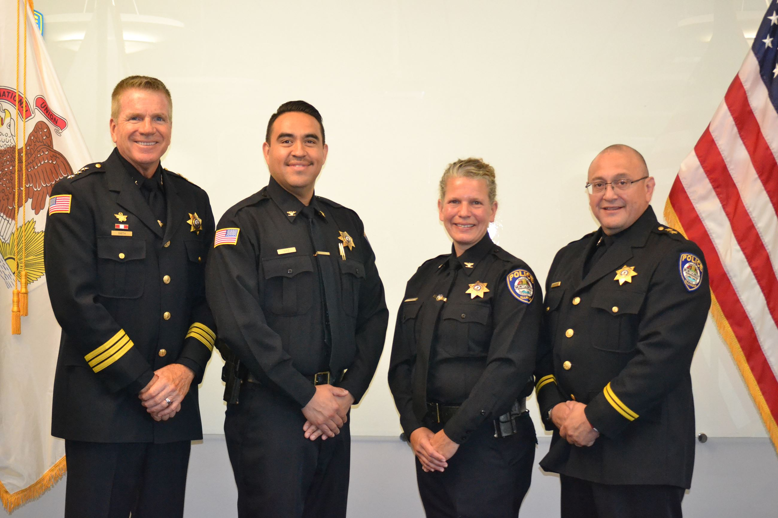 From left to right: Featuring Chief Phillip Smith, Commander Ismael Diaz, Commander Liz Palko and De